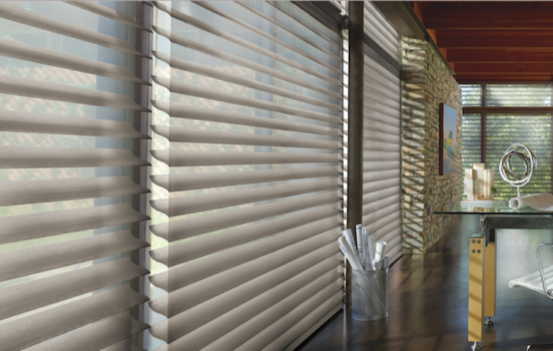 Signature S-vane shape gives unapparelled views while also providing UV protection as well as daytime privacy.