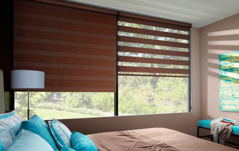 Designed to combine the light control ability of shutters and the simplicity of roller shades, Banded shades provide ultimate light control, view-through, and privacy.