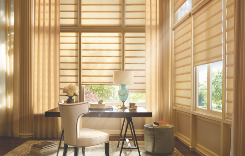 Offered in semi-sheer, light-filtering, and room darkening fabrics along with a range of styles and fold styles.